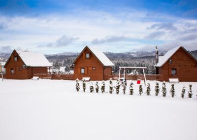 Domki-Istebna-Zima